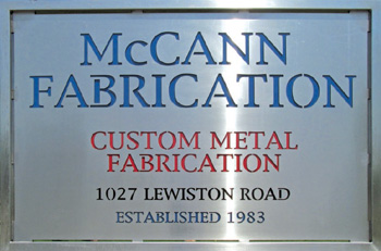 McCann Fabrication Sign